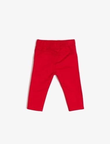 Koton Kids Rahat Kesim Pantolon Kırmızı
